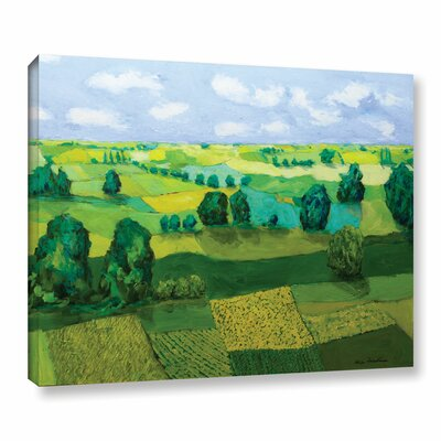 Minnesota Fields Framed Painting Print on Wrapped Canvas