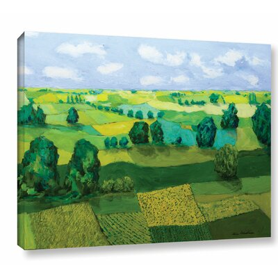 Minnesota Fields Painting Print on Wrapped Canvas