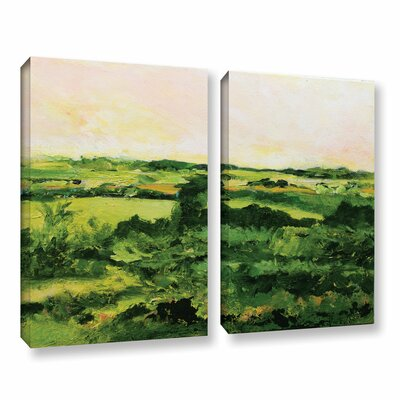 Perry Green 2 Piece Painting Print on Wrapped Canvas Set