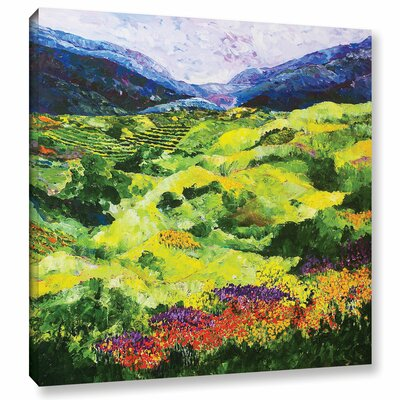 Soft Grass Painting Print on Wrapped Canvas