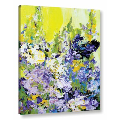 Sudeley Garden Framed Painting Print on Wrapped Canvas
