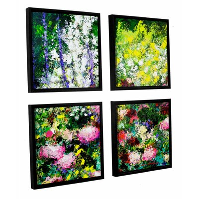 Summertime 4 Piece Framed Painting Print on Canvas Set