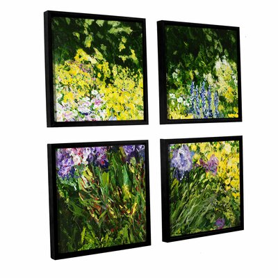 Sunshine Blossoms 4 Piece Framed Painting Print on Canvas Set