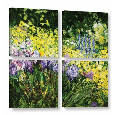 Sunshine Blossoms 4 Piece Painting Print on Wrapped Canvas Set