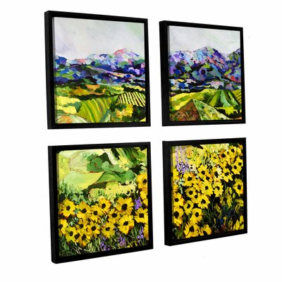 Sweet Bluff' 4 Piece Framed Painting Print on Canvas Set