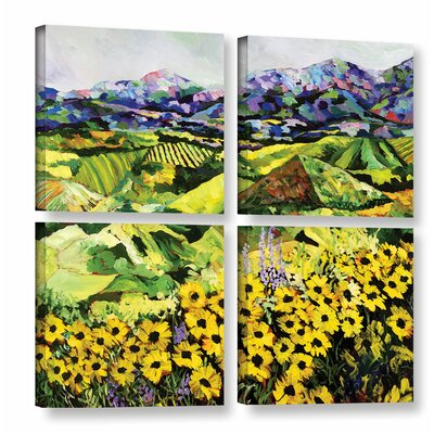 Sweet Bluff' 4 Piece Painting Print on Wrapped Canvas Set