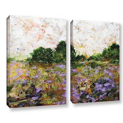 Trowbridge 2 Piece Painting Print on Wrapped Canvas Set Size: 18