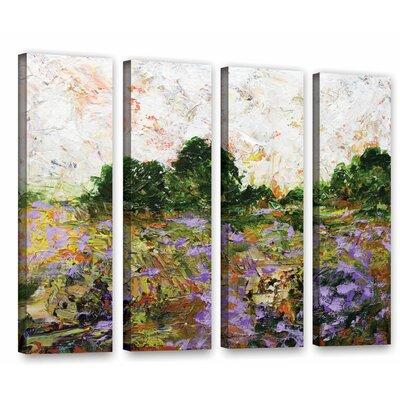 Trowbridge 4 Piece Painting Print on Wrapped Canvas Set Size: 24