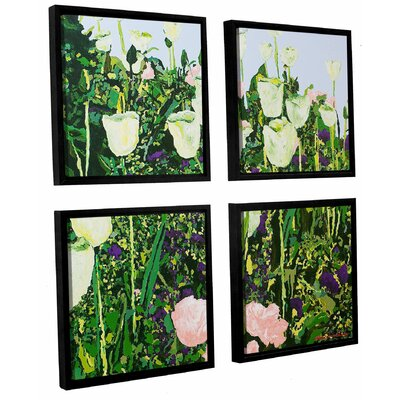 Tulip Delight 4 Piece Framed Painting Print on Canvas Set Size: 36