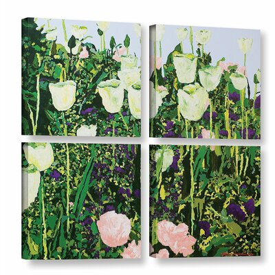 Tulip Delight 4 Piece Painting Print on Wrapped Canvas Set Size: 36