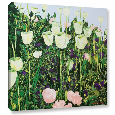 Tulip Delight Framed Painting Print on Wrapped Canvas Size: 10