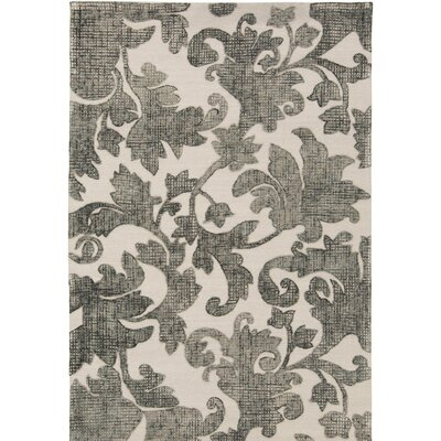 Oberlin Hand-Tufted Gray/Beige Area Rug Rug Size: 4' x 6'