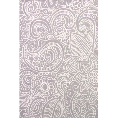 Glenford Hand-Hooked Purple Area Rug Rug Size: 2 x 3