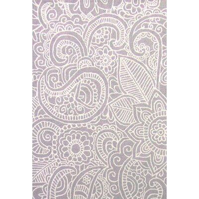 Glenford Hand-Hooked Purple Area Rug Rug Size: 4 x 6