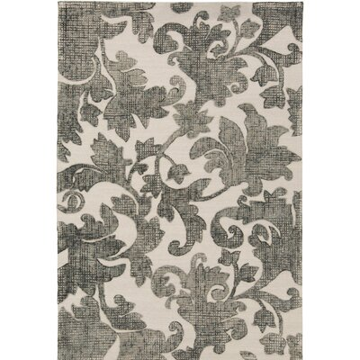 Oberlin Hand-Tufted Gray/Beige Area Rug Rug Size: 2' x 3'