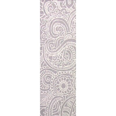 Glenford Hand-Hooked Purple Area Rug Rug Size: Runner 26 x 8