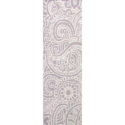 Glenford Hand-Hooked Purple Area Rug Rug Size: Runner 26 x 8