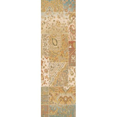 Redding Orange/Beige Area Rug Rug Size: Runner 27 x 73