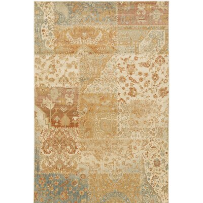 Redding Orange/Beige Area Rug Rug Size: 110 x 211