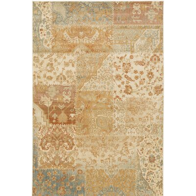 Redding Orange/Beige Area Rug Rug Size: 53 x 73