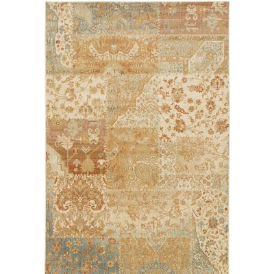 Redding Orange/Beige Area Rug Rug Size: Rectangle 67 x 96
