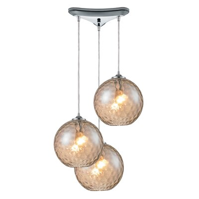 Rotterdam 3-Light Pendant Shade Color: Champange