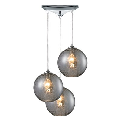 Rotterdam 3-Light Pendant Shade Color: Smoke