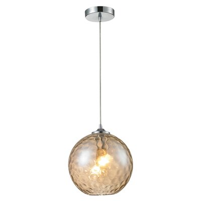 Rotterdam 1-Light Globe Mini Pendant Shade Color: Champange