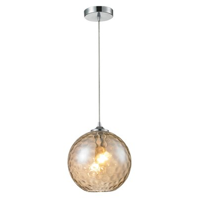 Rotterdam 1-Light Mini Pendant Shade Color: Champange