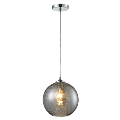 Rotterdam 1-Light Mini Pendant Shade Color: Smoke
