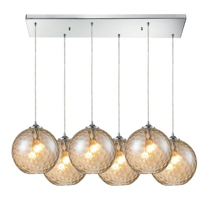 Rotterdam 6-Light Kitchen Island Pendant Shade Color: Champagne