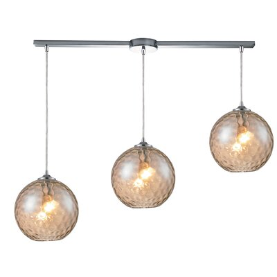 Rotterdam 3-Light Kitchen Island Pendant Shade Color: Champange