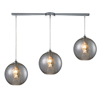 Rotterdam 3-Light Kitchen Island Pendant Shade Color: Smoke