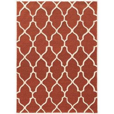 Wyndmoor Hand-Tufted Rust Area Rug Rug Size: 8 x 10