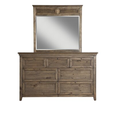 Pomfret 7 Drawer Dresser with Mirror