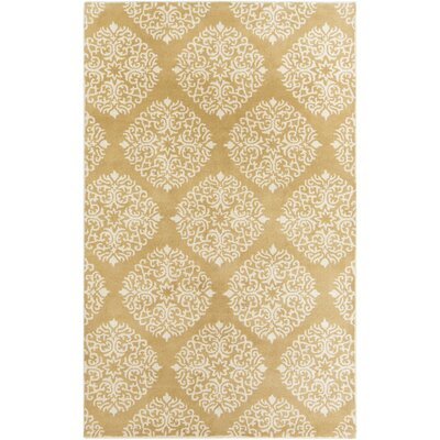 Reese Mustard Rug Rug Size: 33 x 53