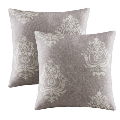 Morrisdale Texture Damask Printed Throw Pillow Color: Grey