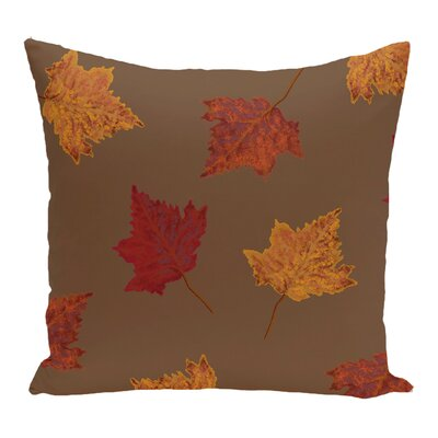 Alcott Hill Dancing Leaves Flower Print Throw Pillow