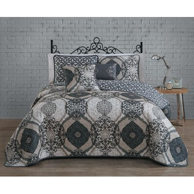 Newson 5 Piece Quilt Set Size: Queen, Color: Taupe