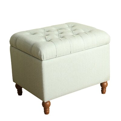 Newstead Medium Tufted Storage Ottoman Color: Mineral