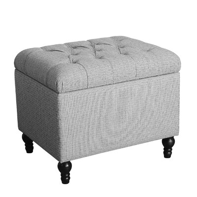 Newstead Medium Tufted Storage Ottoman Color: Medium Gray