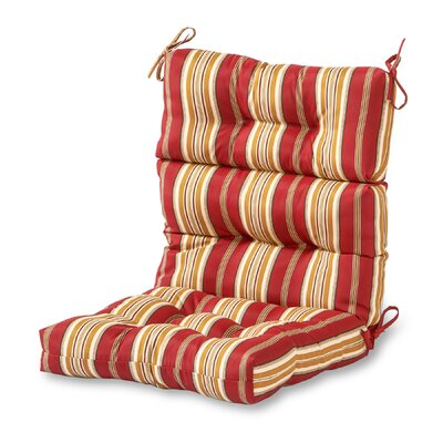 Outdoor Lounge Chair Cushion Fabric: Roma Stripe