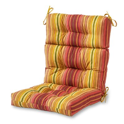 Outdoor Lounge Chair Cushion Fabric: Kinnabari Stripe