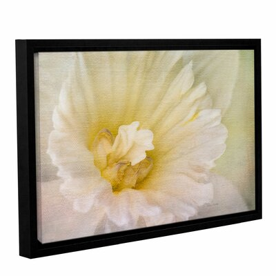Daffodil Heart Framed Painting Print on Gallery Wrapped Canvas