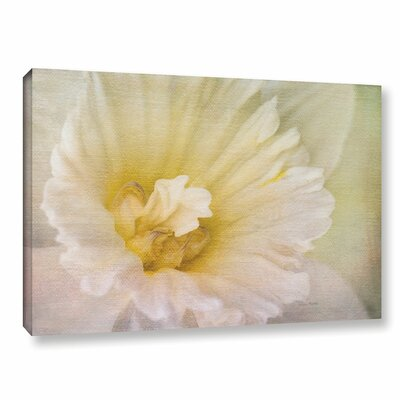 Daffodil Heart Painting Print on Gallery Wrapped Canvas