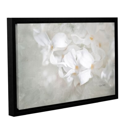 White Lilac I Framed Painting Print on Gallery Wrapped Canvas