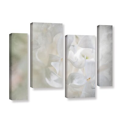 White Lilac II 4 Piece Painting Print on Gallery Wrapped Canvas Set