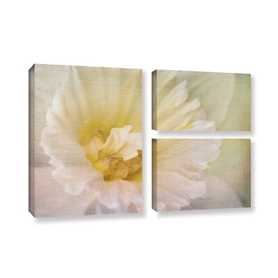 Daffodil Heart 3 Piece Painting Print on Gallery Wrapped Canvas Set