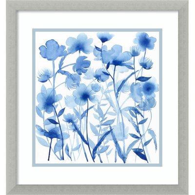 Cobalt Sway I: Floral Framed Graphic Art