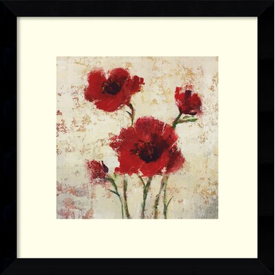 Simply Floral I Framed Painting Print